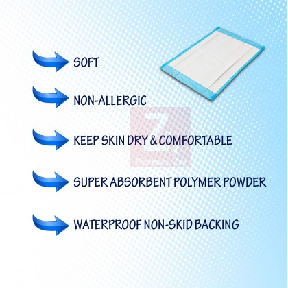"""[10pcs] Aros Disposable Underpad/ Under Pad 60cmx90cm/17""""x36""""(10 sheets/packet)"""